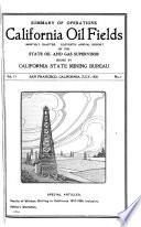 Summary of Operations, California Oil Fields
