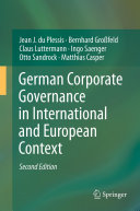 Pdf German Corporate Governance in International and European Context Telecharger