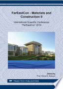 Fareast On Materials And Construction Ii Book PDF
