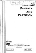 Poverty and Partition