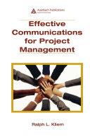 Effective Communications for Project Management Pdf/ePub eBook