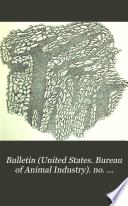 Bulletin United States Bureau Of Animal Industry No 10 25 1896 1900