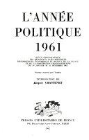 L'Année politique, économique, sociale et diplomatique en France