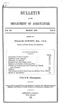 Bulletin of the Department of Agriculture