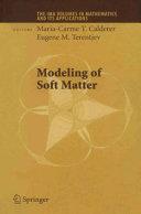 Modeling of Soft Matter