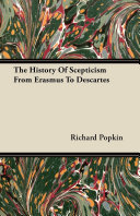 Pdf The History Of Scepticism From Erasmus To Descartes Telecharger