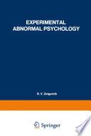 Experimental Abnormal Psychology