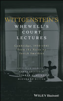 Wittgenstein's Whewell's Court Lectures
