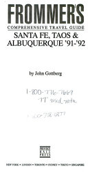 Frommer S City Guide To Santa Fe Taos And Albuquerque 91 92