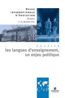 Les langues d'enseignement, un enjeu politique - Revue internationale d'éducation Sèvres 70 - Ebook