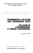 Environmental Pollution and Carcinogenic Risks
