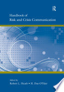Handbook of Risk and Crisis Communication Book