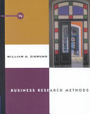 Business Research Methods Book
