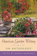 American Garden Writing Book