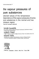Cover of The Vapour Pressure of Pure Substances