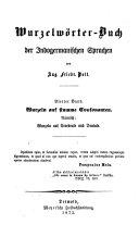 Etymologische Forschungen auf dem Gebiete der indo-germanischen Sprachen