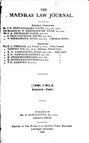 The Madras Law Journal