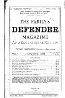 Family s Defender Magazine and Educational Review