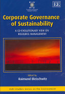Corporate Governance of Sustainability Book