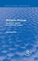 Romantic Ecology  Routledge Revivals