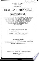 The Law Relating to Local and Municipal Government Book