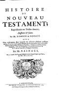 Histoire du Nouveau Testament