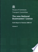 The new National Boatmasters  Licence Book