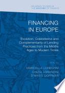 Financing in Europe Book