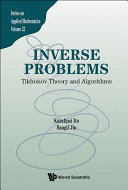 Cover image of Inverse problems : Tikhonov theory and algorithms