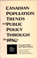 Canadian Population Trends and Public Policy Through the 1980s