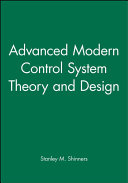 Advanced Modern Control System Theory and Design Book