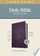 KJV Large Print Thinline Reference Bible, Filament Enabled Edition (Red Letter, Leatherlike, Floral/Purple, Indexed)
