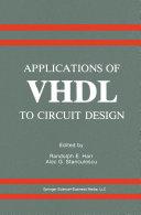 Applications of VHDL to Circuit Design Pdf/ePub eBook