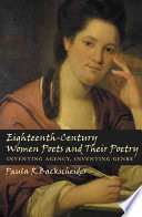 Eighteenth-Century Women Poets and Their Poetry