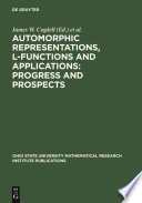 Automorphic Representations L Functions And Applications