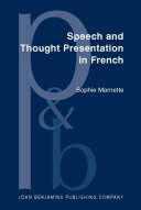 Pdf Speech and Thought Presentation in French Telecharger
