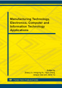 Manufacturing Technology, Electronics, Computer and Information Technology Applications [Pdf/ePub] eBook