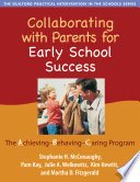 Collaborating With Parents For Early School Success Book PDF