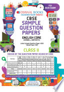 Oswaal CBSE Sample Question Paper Class 11 English Core  For March 2020 Exam