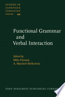 Functional Grammar And Verbal Interaction