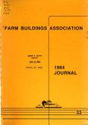 Journal   Farm Buildings Association