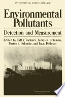 Environmental Pollutants Book PDF