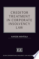 Creditor Treatment in Corporate Insolvency Law