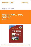 Farm Animal Surgery   Elsevier E Book on Vitalsource  Retail Access Card