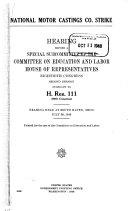 National Motor Castings Co  Strike