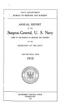 Pdf Annual Report of the Surgeon General of the United States Navy