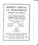Pdf Moody's Manual of Investments, American and Foreign; Banks, Insurance Companies, Investment Trusts, Real Estate, Finance and Credit Companies
