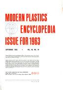 Modern Plastics Encyclopedia Issue