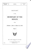 Report of the Secretary of the Senate from