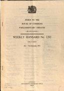 Parliamentary Debates  Hansard   Official Report  6th Series